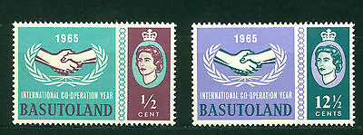 BASUTOLAND 1965,  ICY, Intl. Cooperation Year Issue,SC# 103-104, MVLH 1323