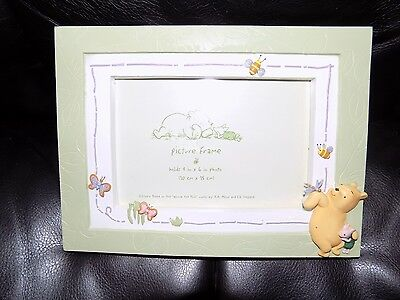 Disney Enesco Vintage Winnie the Pooh Picture Frame 4 IN X 6 IN Photo EUC