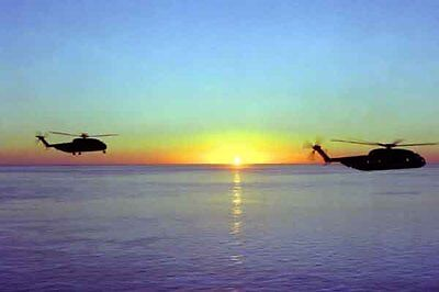 photo Navy RH-53D HM-16 Nimitz Op. Evening Light Iran Hostage rescue 24Apr80(17)