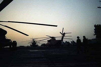 photo Navy RH-53D USS Nimitz Op. Evening Light Iran Hostage rescue 24Apr80 (14)