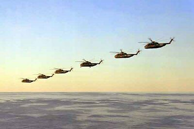 photo Navy RH-53D HM-16 Nimitz Op. Evening Light Iran Hostage rescue 24Apr80(18)