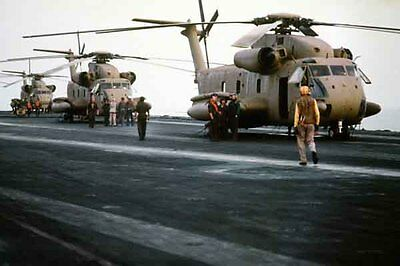 photo RH-53D No2 HM-16 Nimitz Op. Evening Light Iran Hostage rescue 24Apr80 (3)