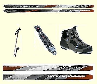 Nnn Easy To Ski  Waxless Cross Country Skis Pkg With Boots Poles Bindings