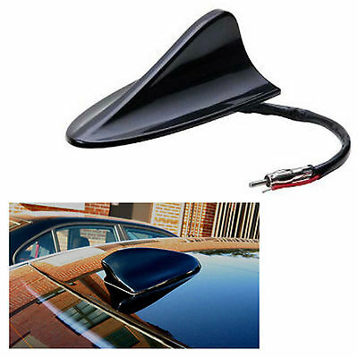 12V Volt Black Gloss AM FM Radio Shark Aero Fin Car Antenna Aerial BMW Universal