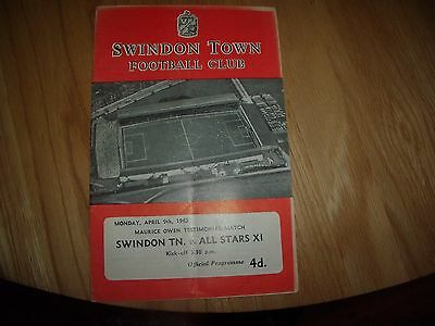 swindon v all stars x1 9/4/1962 moore, revie,matthews,finney