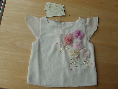 Monsoon girls smart beaded floral top special occasion Age 5  BNWT