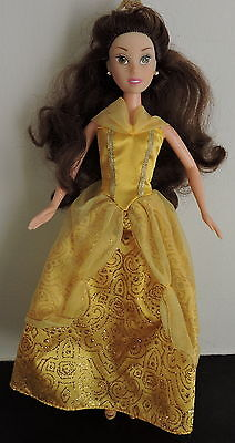Disney Princess Belle Doll Beauty and the Beast Dressed withTiara and Shoes VGC.