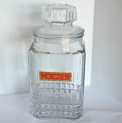 KOEZE Glass Candy Nut Decanter Jar Apothecary Canister Lidded Tea Cookie Storage