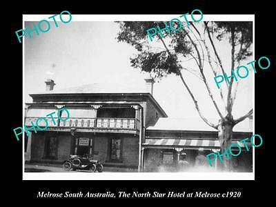 OLD LARGE HISTORIC PHOTO OF MELROSE SOUTH AUSTRALIA, THE NORTH STAR HOTEL c1920
