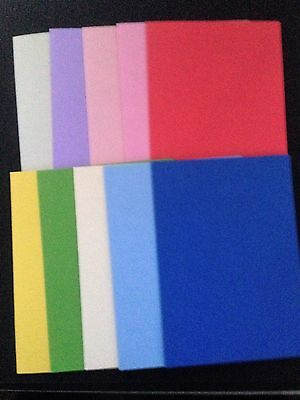 10 Blank Coloured  A6 Cards (105mm x 148mm) and C6 Envelopes (114mm x 162mm)