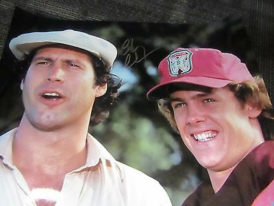 CHEVY CHASE SIGNED AUTOGRAPHED BUSH WOOD CADDYSHACK 16 x 20  PICTURE JSA COA