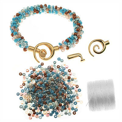 Refill - Beaded Kumihimo Bracelet - Blue Tones -  Beadaholique Jewelry Kit