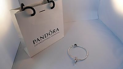 Pandora cocktail glass beads with stones 925 sterling silver dangle slide Charm
