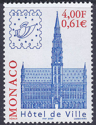 "Monaco 2001 ""Belgica 2001"" Stamp Exhibition UM Yvert 2301 Cat 2.00 Euros"