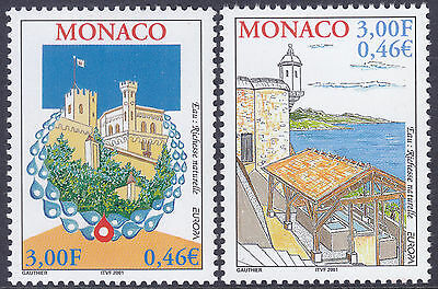 Monaco 2001 Europa - Water Resources Set UM Yvert 2298-9 Cat 3.00 Euros