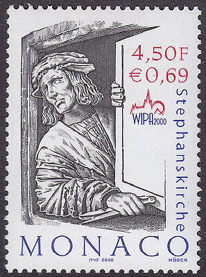 Monaco 2000 WIPA 2000 Stamp Exhibition UM Yvert 2253 Cat 2.20 Euros