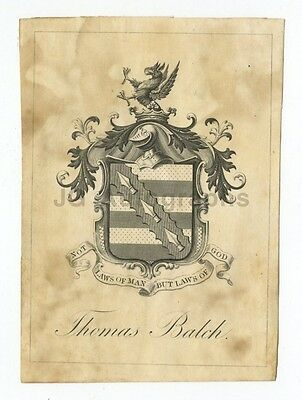 """Antique Bookplate (Circa 19th Century) """"Rest For The Weary"""""""