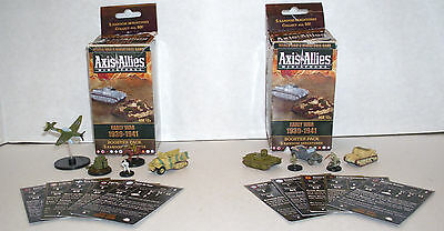 2 Axis & Allies Miniatures Early War 1939-1941 Booster Pack 5 Miniatures Per Box
