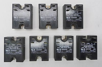 Lot of 7 CRYDOM D2440D Dual Solid State Relay SSR Panel Mount 4-15VDC 280VAC 40A