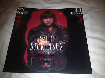 Bruce Dickinson Tattooed Millionaire vinyl shaped picture disc single EMPD 138