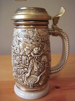 Collectible Avon Stein Made in Brazil 1987 Beer Stein The Gold Rush Nice