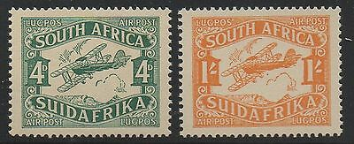 ALLY'S STAMPS  South Africa Scott #C5-C6 Airmail Aviation- MNH OG