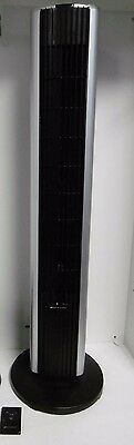 "Bionaire 36"" Remote Control Oscillating Tower Fan Btf4010 Good Condition"