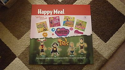 LARGE McDONALDS HAPPY MEAL MENU BOARD TRANSLITE SIGN, LIZZIE McGUIRE, TAK TOYS