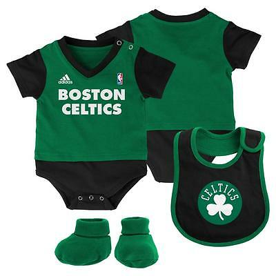 Boston Celtics Baby Infant Onesie Feeding Bib Booties Set (FREE SHIPPING) 6-9 mo