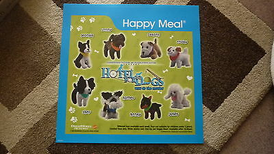 LARGE McDONALDS HAPPY MEAL MENU BOARD TRANSLITE SIGN, HOTEL FOR DOGS MOVIE TOY