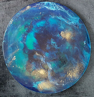 Abstract Resin Art Painting Original New
