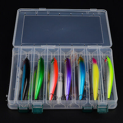 High Quality 14pcs Fishing Lures Minnow Popper Baits Tackle Wobblers Crankbaits