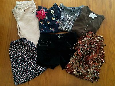 Girls 8pc lot sz 7 Jeans Skirts Shorts Tops Old Navy Justice Rachel Chloe