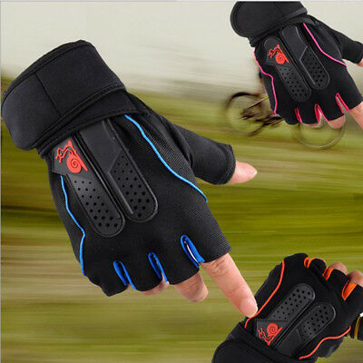 Men's Weight Lifting Gym Fitness Workout Training Exercise Half Gloves F3