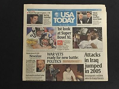 Kobe Bryant 81 Point Game USA Today Newspaper.  NFL League Championships