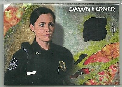 2016 Walking Dead Topps Survival Box Dawn Lerner Shirt Relic Infected Sp #'d /99