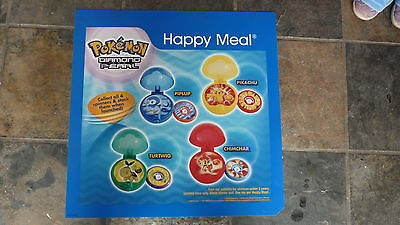 LARGE McDONALDS HAPPY MEAL MENU BOARD TRANSLITE SIGN, POKEMON SPINNERS