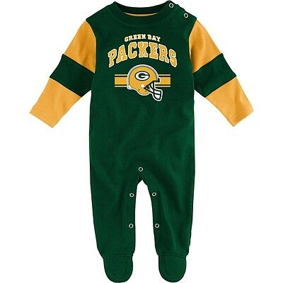 Green Bay Packers Baby Cotton Team Believer Sleeper (FREE SHIPPING) 6-9 months
