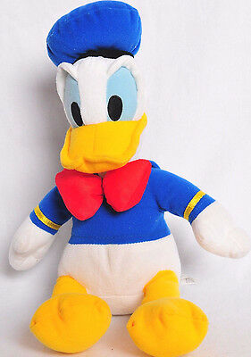 "Donald Duck Plush 12"" Disney Seated Mickey Mouse Friends Blue Stuffed Animal"