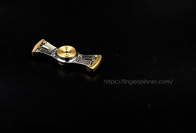 Finger Spinner Figit Toy, Tactical RevSpin EDC, **RARE, Long Spin Time, Titanium