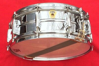 "Ludwig Transition Badge Snare Drum 5 1/2""x 14"" Supraphonic Vintage 1958 59"