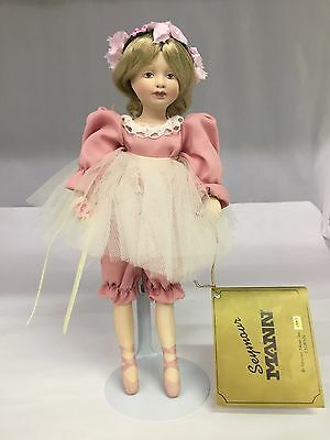 The Doll Collector's Guild Seymour Mann Porcelain Ballerina Doll W/ Stand, 782-I