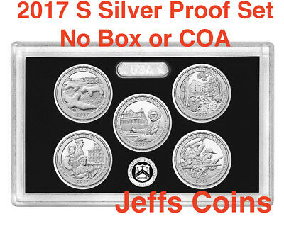 2017 S 90% SILVER Quarters Mint Proof Set Effigy-George Rogers no Box / COA 17aq