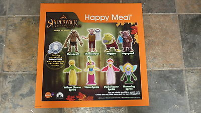 LARGE McDONALDS HAPPY MEAL MENU BOARD TRANSLITE SIGN, THE SPIDERWICK CHRONICLES