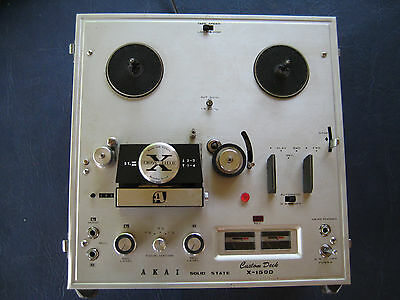 Akai X-150D Reel to Reel Custom deck with blank tapes and takeup reels
