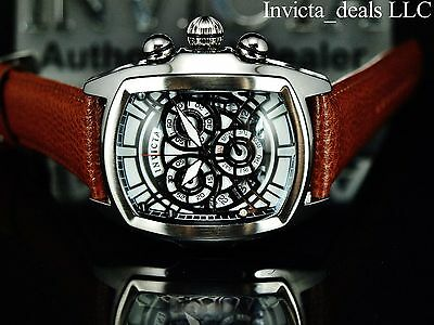 Invicta Men's 47mm Dragon Lupah ISA Movement Chrono SE White Dial Leather Watch
