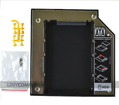 NEW! Pata IDE to PATA 12.7mm Universal 2nd HDD SDD Hard Disk Drive Caddy +Screws