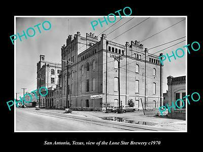 OLD LARGE HISTORIC PHOTO OF SAN ANTONIO TEXAS, THE LONE STAR BREWERY c1970