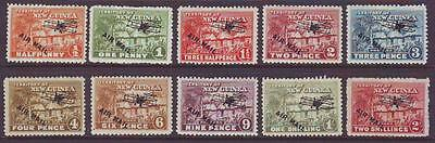NEW GUINEA  1931 Airmails Village Huts  Sg137-46 MintLH to 2/- [10]
