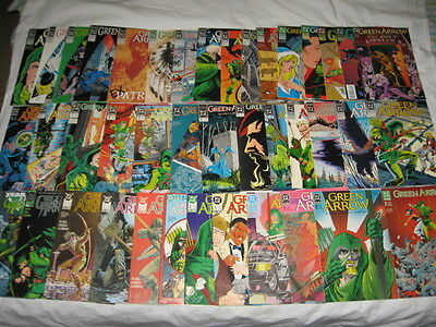 GREEN ARROW 41 issue COMIC book LOT set Classic MIKE GRELL 80s 0 1-8 sc tp hc DC